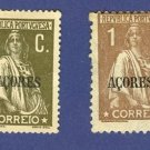 Azores 2 stamps from 1912 to 1922