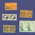 United States Stamps 5 Sets Horizontal Pairs Packet 22641