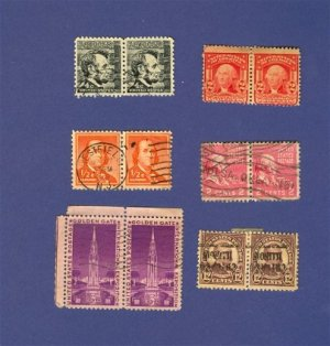 United States Stamps 6 Sets Horizontal Pairs Packet 27629