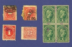 United States 5 Document Stamps   Packet 38623