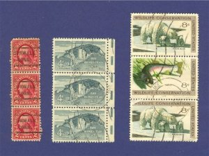 United States Stamps 3 Sets of Vertical strip  Packet No 35642
