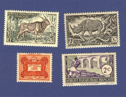Equatorial France French Colony 4 Stamps