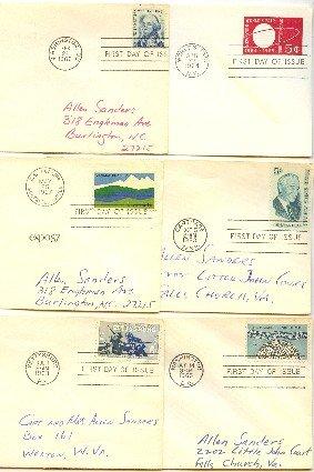 1960s 9 FDI John Muir Civil War Centennial Montgomery Blair First Day Issue Packet