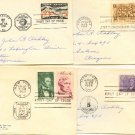 1950s 4 FDI Monroe Intl Geophysical Fort Ticonderoga Lincoln Sesquicentennial First Day Issue Packet