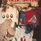 Ye Olde Santas in Waste Canvas Designs by Sue McElhaney Counted Cross Stitch