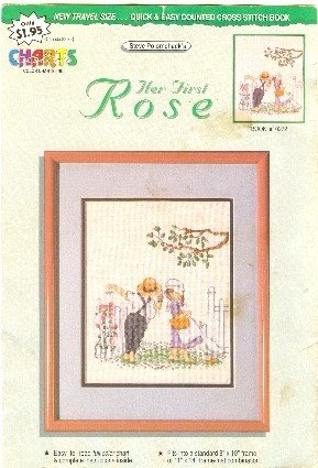 Her First Rose by Steve Polomchack counted cross stitch