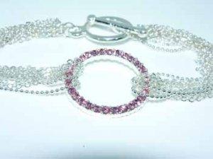 Wholesale Pink Vie vita Circle Bracelet