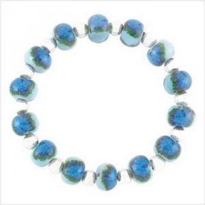 Wholesale     Handcrafted Pavão Blue Bracelet