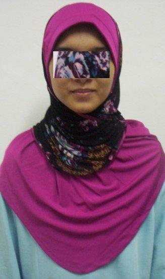 New~Split Kuwaiti Hijab~Amira~Mona~Muslim/Islamic Head Scarf~Tudung~Kleidung (ID 3428-P)