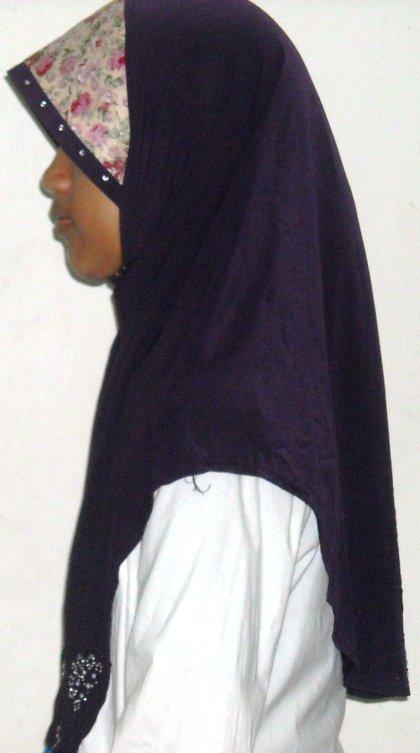 New~1pc Amira Hijab~Malaysian style~Mona~Muslim/Islamic Head Scarf~Tudung~Kleidung (TB Desa-purple))