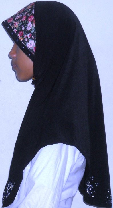 New~1pc Amira Hijab~Malaysian style~Mona~Muslim/Islamic Head Scarf~Tudung~Kleidung (TB Desa-black))