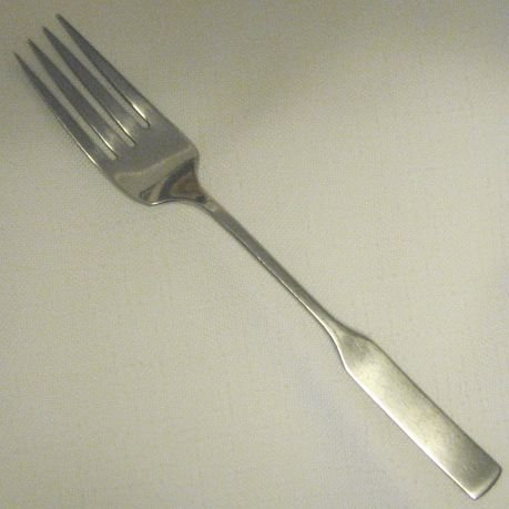 Place Fork Oneida Deluxe Stainless Flatware Modern Antique Free Shipping