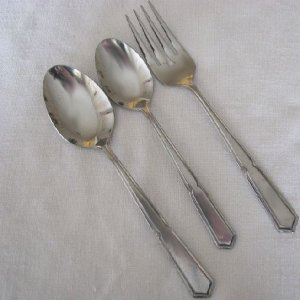 3 Pieces Rogers Co. Stanley Roberts Stainless Flatware Crestvu Free Shipping