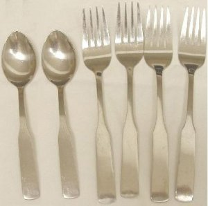 6 Pieces Rogers Co. Stanley Roberts Stainless Flatware Plymouth Cove Free Shipping