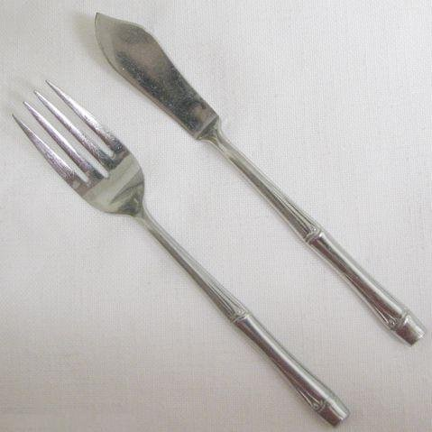 Salad Fork, Butter Knife Present Stainless Flatware Tahiti Free Shipping