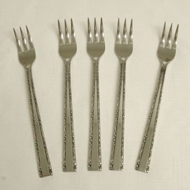5 Cocktail Forks Towle Supreme Cutlery Stainless Flatware TWS120 Free Shipping