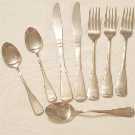 8 Pieces Gibson Flatware Stainless Patriot  Free Shipping