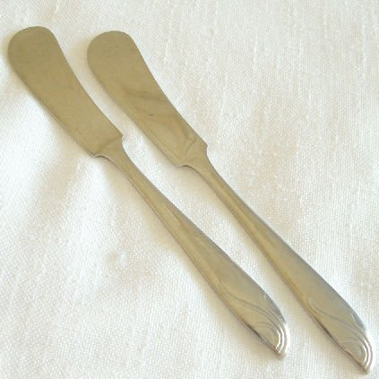 2 Individual Spreaders National Stainless Flatware Finale Free Shipping