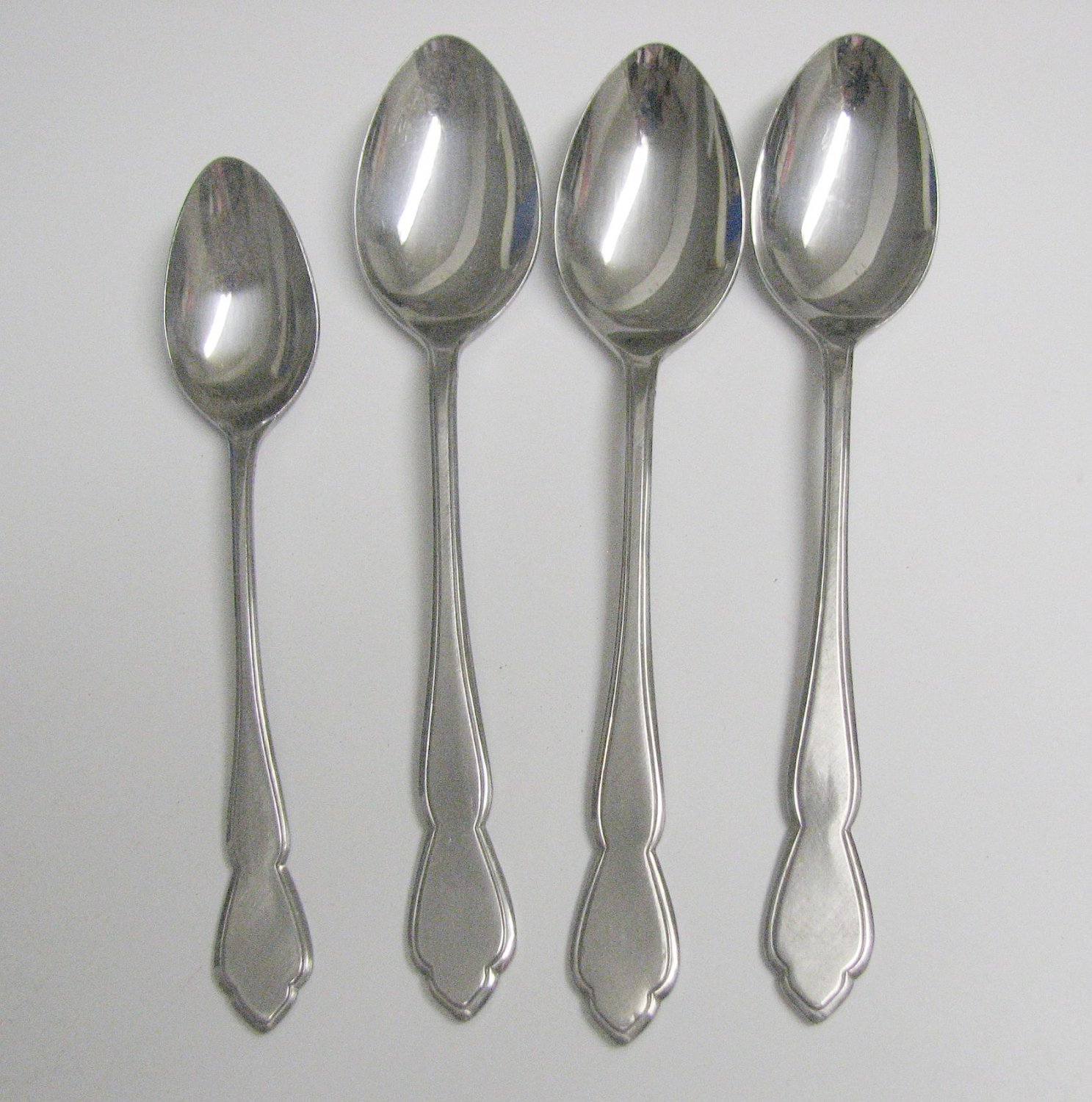 4 Spoons Oxford Hall Stainless Flatware Shoreham Free Shipping
