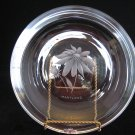 Stromberg Strombergshyttan Sweden Engraved Glass - Black-Eyed Susan Maryland State Flower Plate