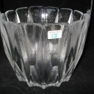 LINDSHAMMAR SWEDEN CRYSTAL ICE BUCKET  w/ Foil LABEL Scandinavian Art Glass-EAMES ERA