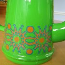 RETRO Modernist Holland Enamelware Tea or Coffee Pot Atomic Starburst