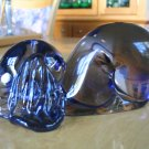 Vtg MURANO PUPPY DOG SCULPTURE PAPERWEIGHT W/LABEL- Italian Art Glass