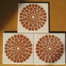 Mettlach Villeroy Boch Saar Germany Atomic Starburst Retro - Set 3- Kitchen Bath Decorator Tiles