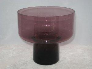 Morgantown Glass #9930 Susquehanna Candle Vase 1960s Danish Modern