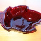 Anchor Hocking Royal Ruby Maple Leaf Candy Dish