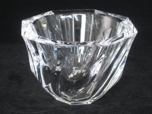 Orrefors Crystal Bowl Paperweight Style Residence by Olle Alberius Sweden