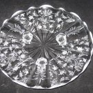 "Fostoria Chintz 3 Toed Footed Tidbit Plate-8"" - Elegant Glass"