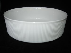 Arzberg Germany Athena White & Cobalt Serving/Vegetable Bowl Mid-Century Modern