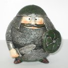 Vintage Cast Resin Viking Toy in Chain Mail - Souvenir of Iceland