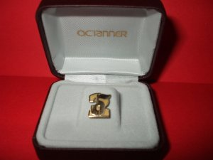Tie Tack Lapel Pin Apple Number Two  Octanner