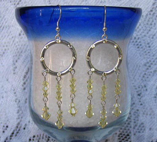 CRYSTAL HOOPS JONQUIL