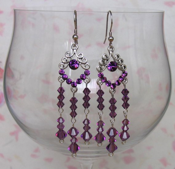 LOOPY WITH CRYSTALS AMETHYST