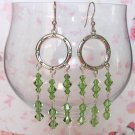 Crystal Hoops Peridot