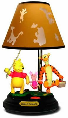 Pooh And Friends Talking Animated Lamp