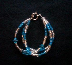 Triple String Blue Bracelet