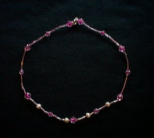 Dark Pink Necklace
