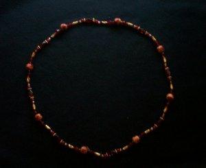 Dark Red Necklace