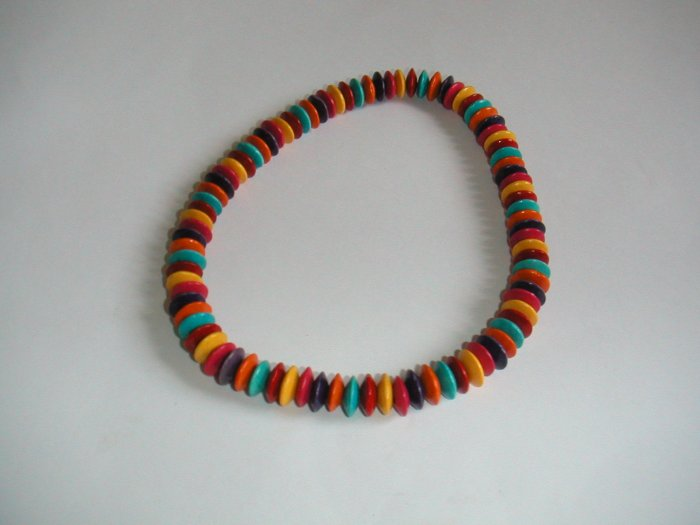 necklace wooden bean