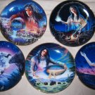 Set of Five Franklin Mint Native American Maiden Royal Doulton Collector Plates