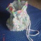 A crochet pouch