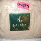 Ralph Lauren BELMONT OAKS Tan Linen King Bedskirt NIP