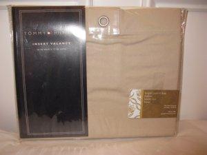 Tommy Hilfiger Classics Tab Top Insert Valance Khaki
