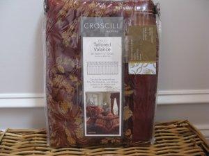 Croscill HERITAGE Red Tailored Valance
