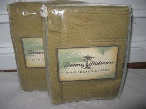 2 Tommy Bahama Sferra JUNGLE JACQUARD Rattan Std Shams