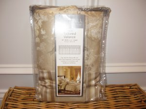 Croscill HERITAGE Platinum Tailored Valance 3avail